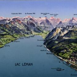 Carte du Grand Lac couleur CP
