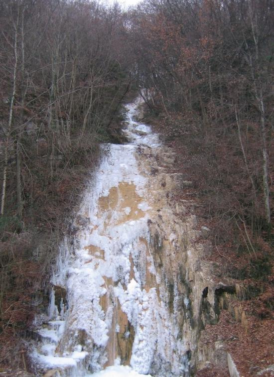 La cascade gelée