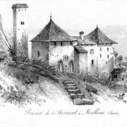 Prieuré au XVIII ème siècle vue face est