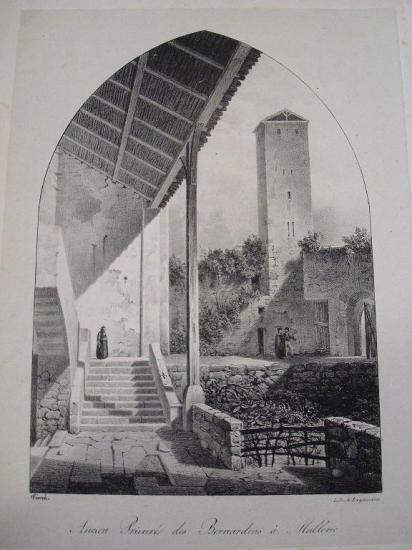 Le prieuré et sa tour fin XVIII ème