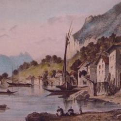 Meillerie et le lac au  début du XIX ème siècle