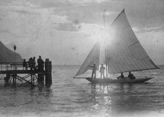 Voile à Meillerie en 1900
