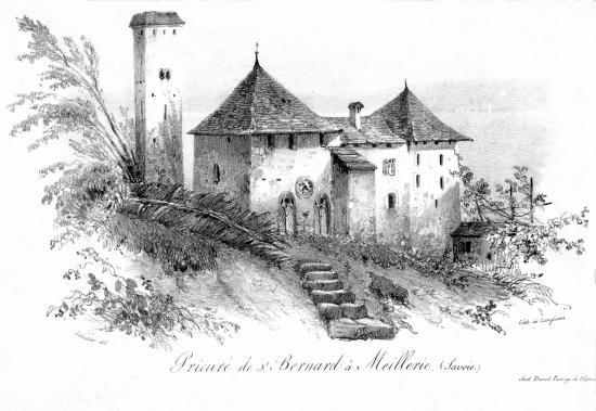 Gravure du Prieuré au XVIIIème siècle