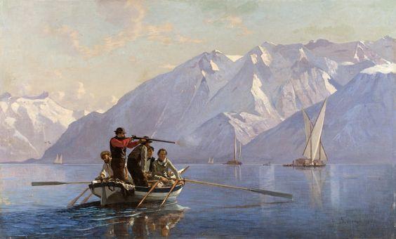 Bocion chasse au grebes 1864