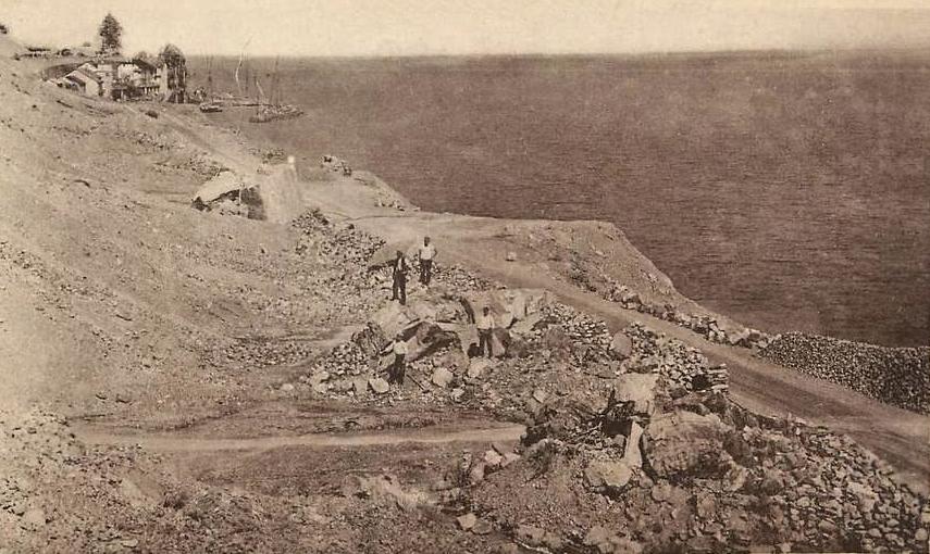 Carriere de meillerie en 1910