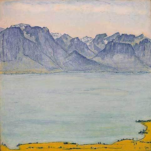 Ferdinand hodler vue du lac depuis chamby 1