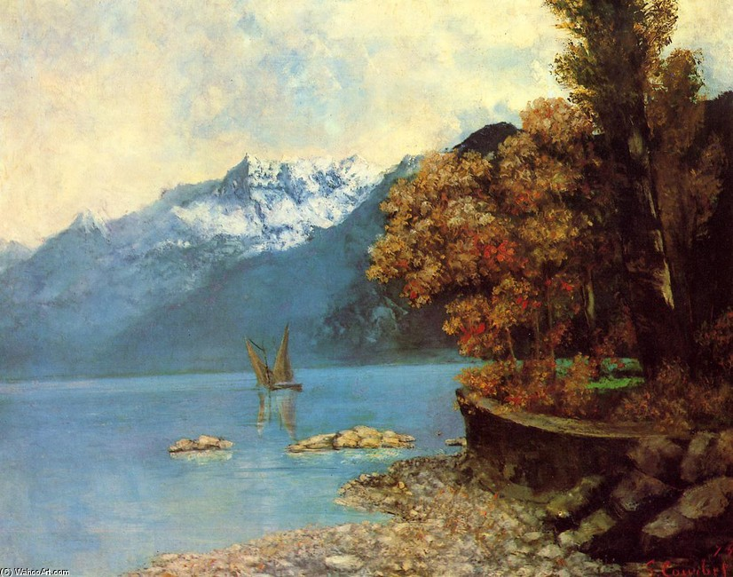 Gustave courbet lake leman