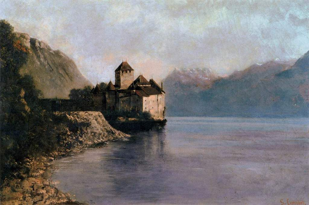 Gustave courbet the chateau de chillon