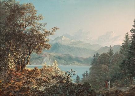 Jb stuntz vue du village de meillerie prise pres de lausanne 1753 1836