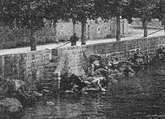 Meillerie scene du bord du lac