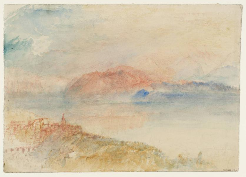 William turner lac leman avec la dent d oche vue ve lausanne